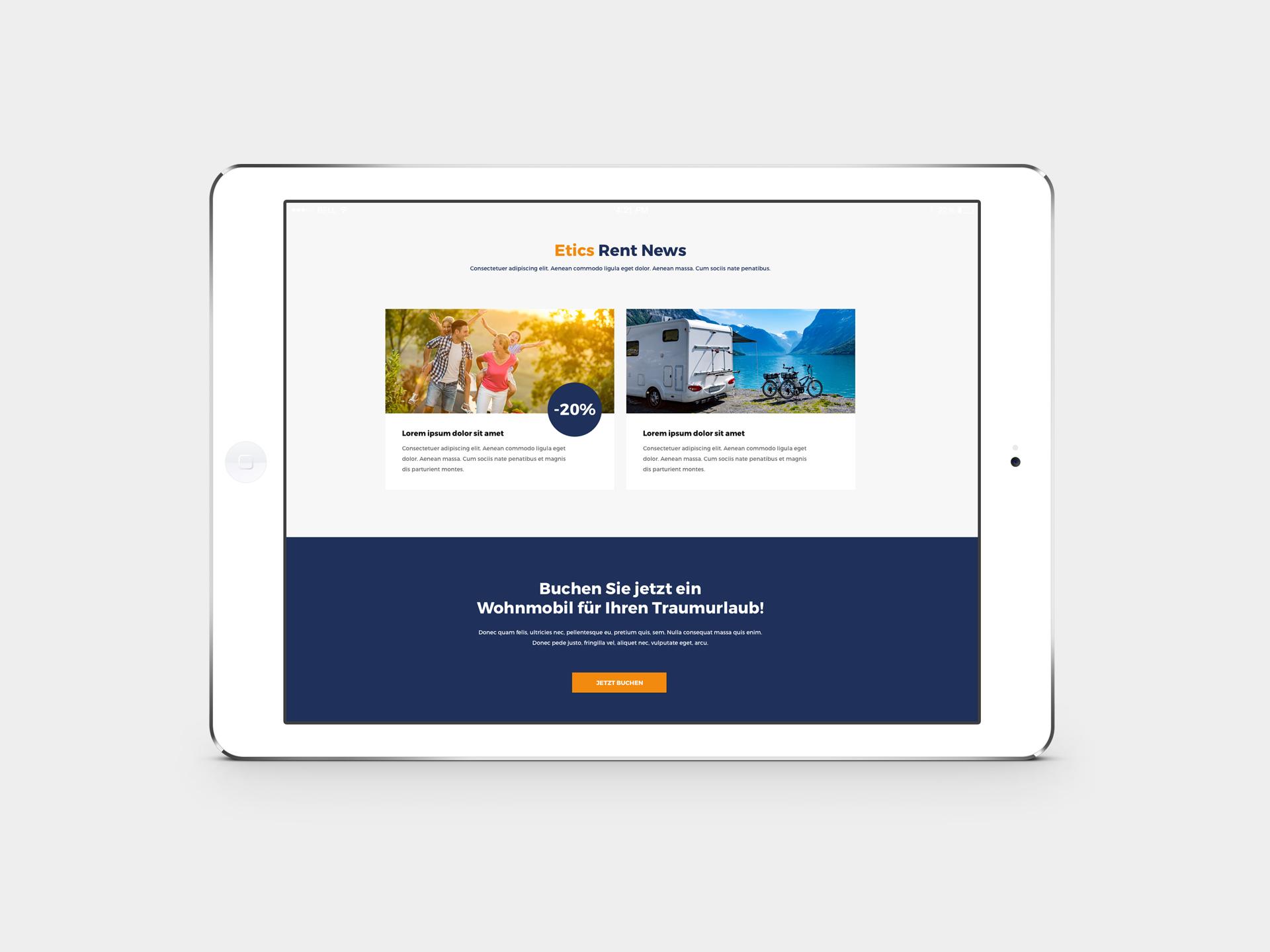 Etics Rent Mobil Website
