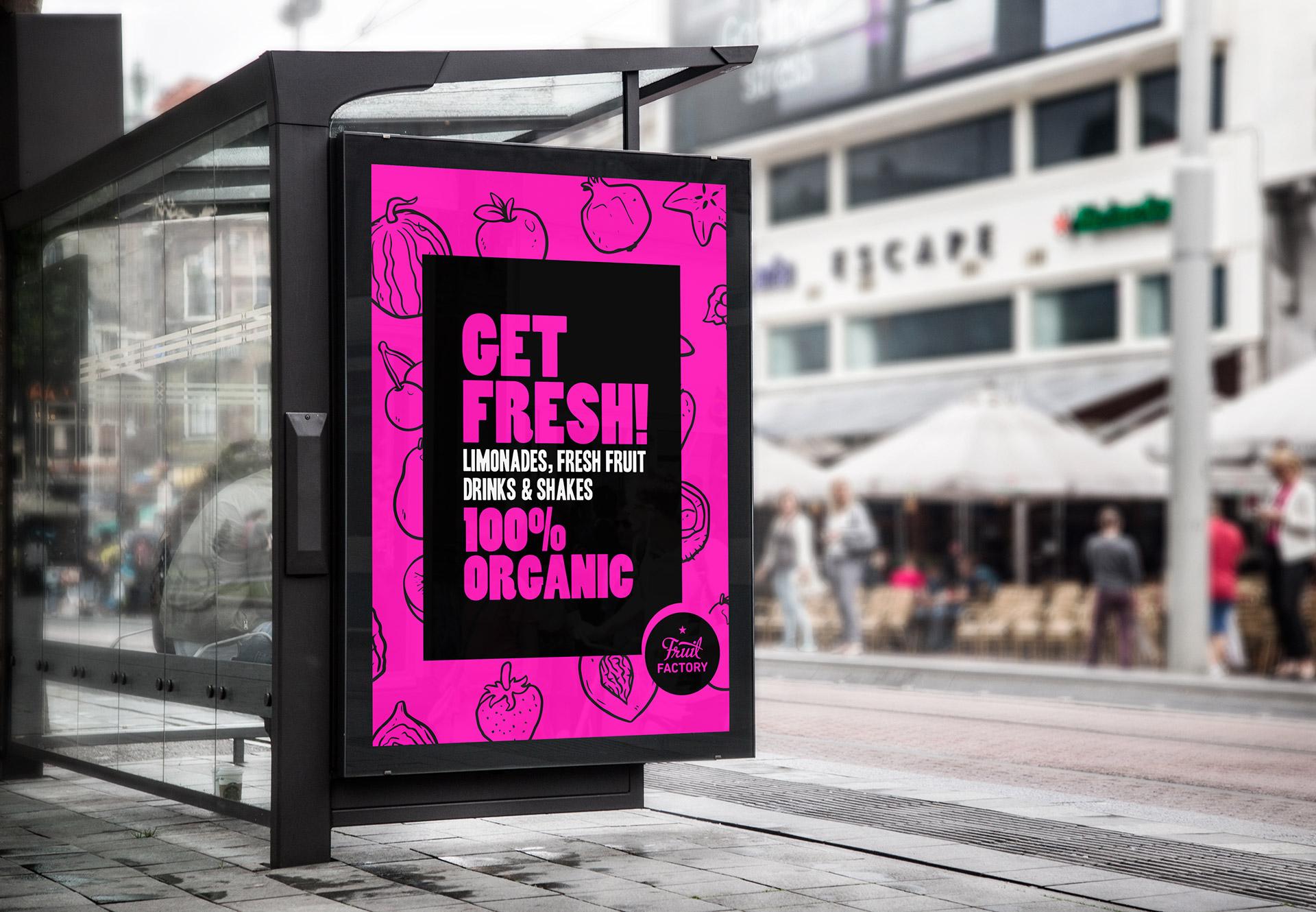 Get fresh Plakat Werbung